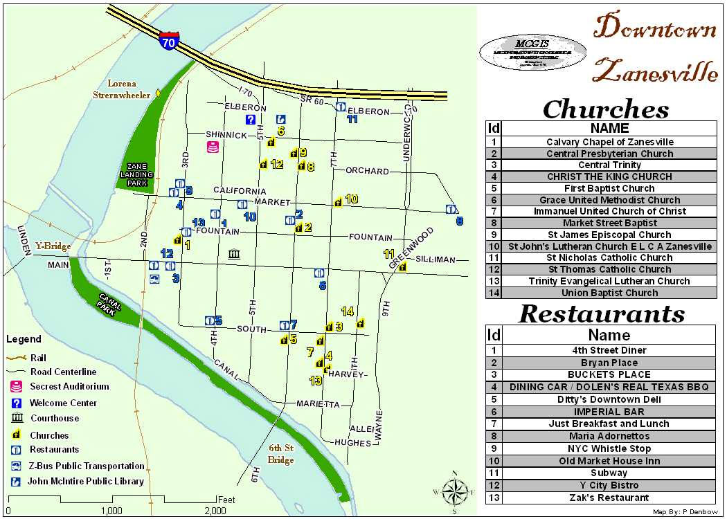 Downtown Zanesville Restaurants Churches