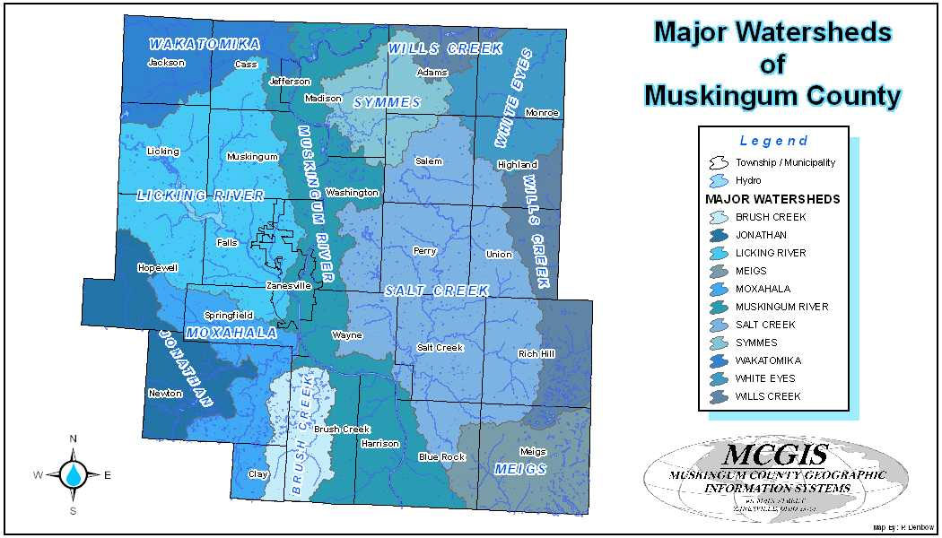 Muskingum County Watershed Districts